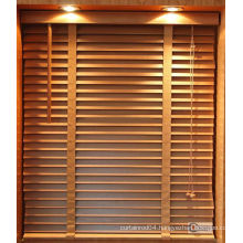 2014 decorative natural wood blind, wooden blind, wood window blind fireproof plastic wood slats