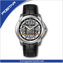 High Quality Colorful Genuine Leather Band Automatic Watch