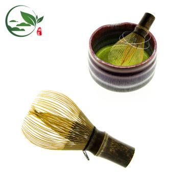 Batidor de Bambú Púrpura de 80 Puntas para Té Matcha
