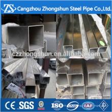 Chapas de aço inoxidável tubulação quadrada de aço soldado e tubo retangular