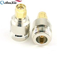 High Frequency Copper SMA Male To N Female Flange Adapter