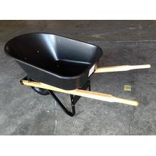 Carretilla de rueda resistente de madera del jardín de la manija Wh6601