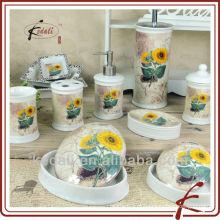 Conjunto de casa de banho cerâmica, conjunto de casa de banho de porcelana, acessórios de casa de banho