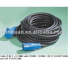 CEE Cable poder cable extensión portátil Cee 17 estándar VDE CE aprobación