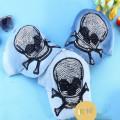 2014 neue Mode Frühling Herbst Diamant Rivet Skull Jeans Mütze Peak Baseballkappe einstellbar