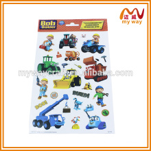 Cute cartoon sticker cars , static cling sticker printing vinyl sticker a4 for christmas