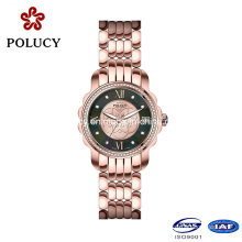 Fashion Vogue Rose Gold Plated Stainless Steel Case Back Wrist Watch