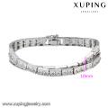 74671 bracelet fantaisie tennis couleur argentée avec bijoux fantaisie de mode xuping