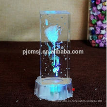 Cristal láser 3D con imagen de dibujos animados para regalos de San Valentín