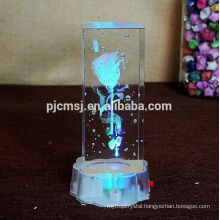 3d laser crystal with cartoon image for Valentine's day gifts