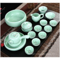 Hand-Painted China Celadon, Tea Set Ceramic