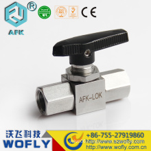 "NPT Female connection acid resistance gas stainless steel mini 1/4"" ball valve"