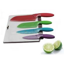 4PCS colorido plástico alça cozinha faca set (se-3547)