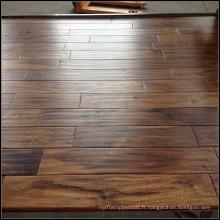 Plancher de bois solide imperméable à l'eau Handscraped Natural Acacia