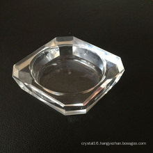 Square Single Hole Glass Candle Holder & Candlestick
