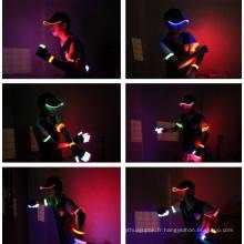 Chapeau léger fait sur commande de chapeaux de lumière de LED avec la base-ball légère de coton