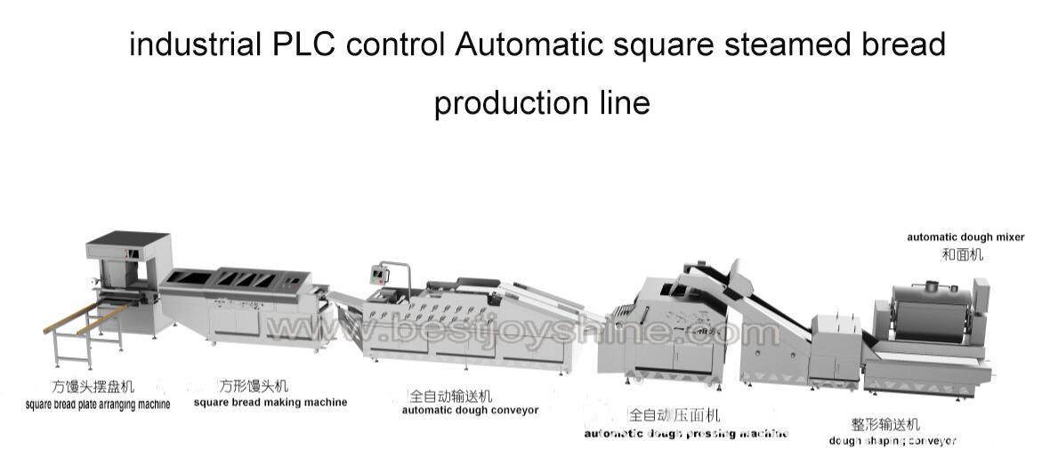 industrial Automatic square steamed bread production line