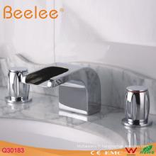 Robinet de salle de bain à double poignée Waterfall