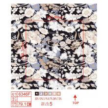 Lycra tela de nylon con flores Imprimir