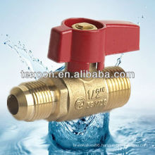 CSA UL standard port gas brass ball valves with chrome plated red handle