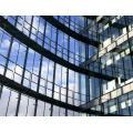 Rahmenlose isolierte Glasvorhang-Wand für das Errichten