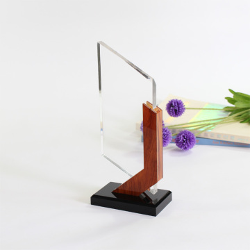 Cheap personalized engraved wooden award trophy