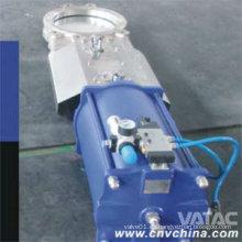 Wcb / CF8 / CF8m Válvula de compuerta de la cuchara de la oblea del cuerpo con el actuador neumático