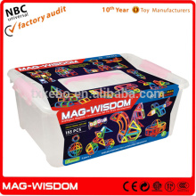 2016 Mag Wisdom Super 3D Magnetic Intelligent Hot kid Toys 155PCS Set