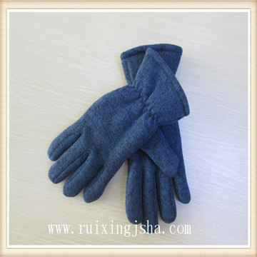 women knitted multi color gloves
