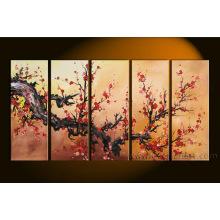 Pintura moderna da arte da flor da arte da parede na lona para a decoração (FL5-023)