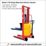 Sinolift-Semi Electric Stacker with Good Price