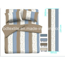 Tops 100% Polyester Printed Stripes Design for Bedding Sets