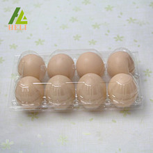 Clamshell 8 Cells Eggs Plastic Container