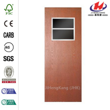 32 in. x 80 in. Smooth Flush Hardboard with Window Solid Core Unfinished Composite Interior Door Slab