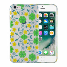 Estuche Durable Transparente IML Flor Serie TPU para iPhone6