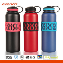 Wide Mouth Opening S/S Vacuum 32oz Water Bottles With Silicone Grip