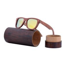 cores polarizadas óculos de sol de marca de bambu