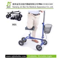Knee Folding Walker with Adjustable Seat