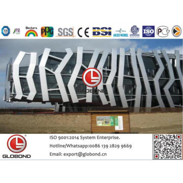 Globond Plus PVDF panneau composite en aluminium (PF142)