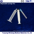 Seringue de plastique à usage unique 5 pièces à l'aiguille (5 ml)