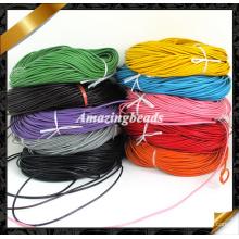 Cuerda de cuero, cuerda de cuero real de cuero de vaca, dia. 2mm longitud de los 100meters, envuelva fuentes de la pulsera de cuero, 10 colores disponibles (RF048)