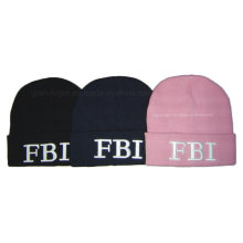 3D Embroidery Acrylic Beanie Hat for Children