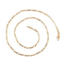 44406 xuping GZ moda jóias mercado simples 18 k banhado a ouro chian colar com fecho magnético