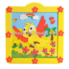 New design DIY 3D EVA foam hand sticker with photo frame for kids