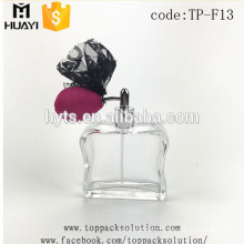 New design 50ml 100ml decorative glass perfume bottle