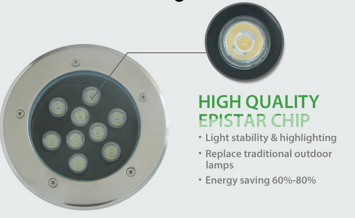 9W led underground light