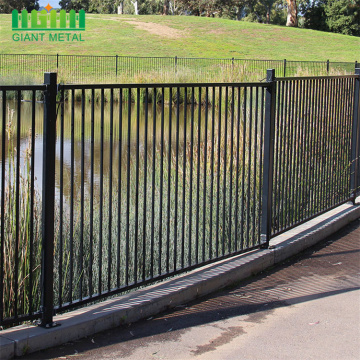 Wholesale ornamental pressed spear black steel fencing