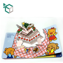 Custom 3d Full Color Cardboard Children English Story Books