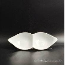 2 Grids Hotel Porcelain Dinner Plate