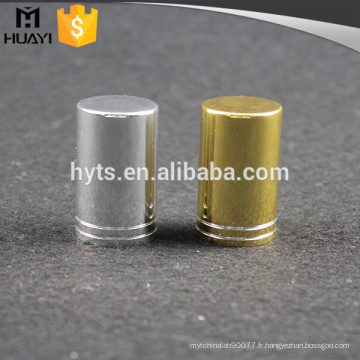 bouchon de bouteille en aluminium argent parfum or